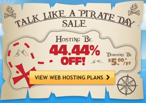 Host Gator Talk Like a Pirate Day Sale